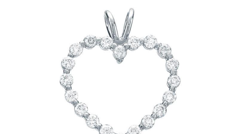 Small Heart Frame Pendant