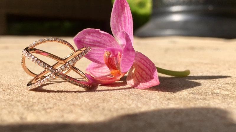 Double Gold Diamond Ring