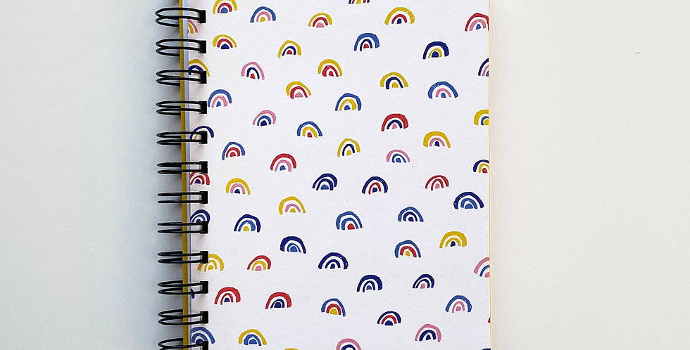 Rainbow In Abstract Form Notebook Journal