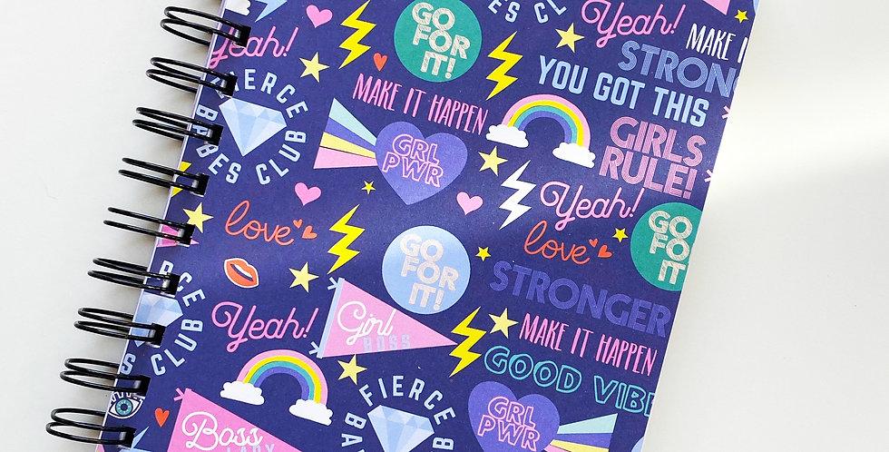Girl Power On Purple Notebook Journal