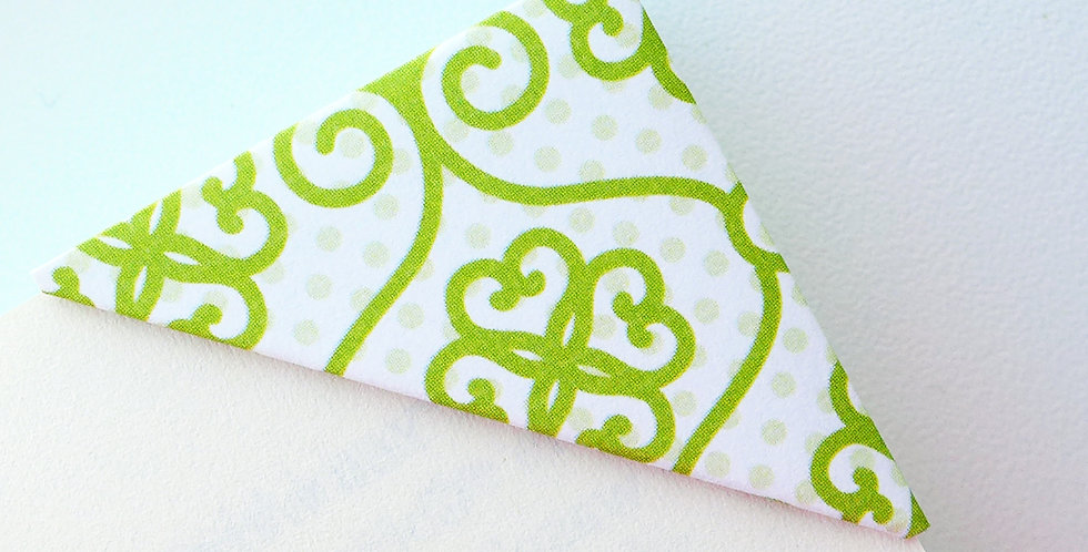 Abstract Heartshape Pattern in Green Bookmark