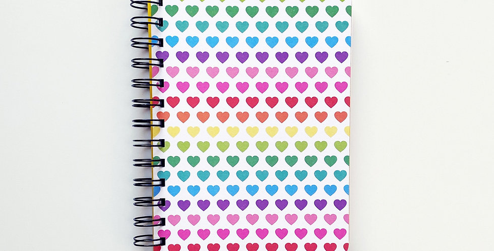 Colorful Heart Love Notebook Journal