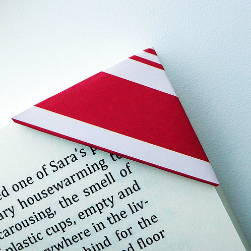 Red Peppermint Candy Wrapper Bookmark