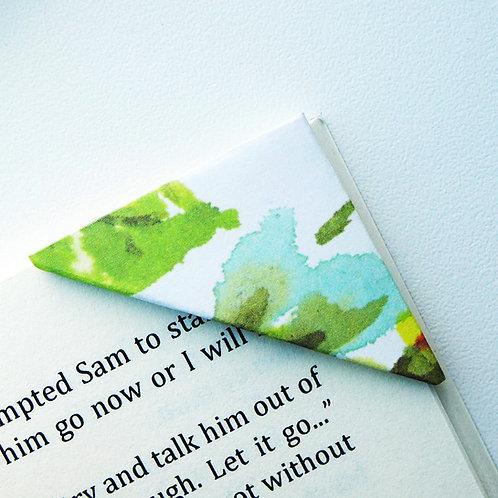 Flower In Watercolor Bookmark