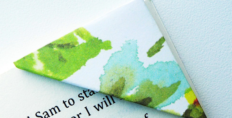 Flower In Watercolor Bookmark