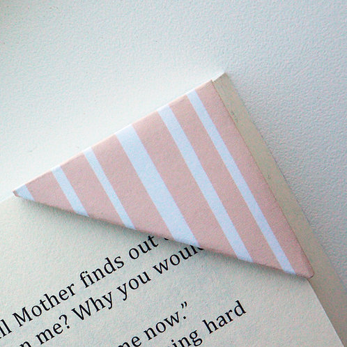 Coral Random Stripe Bookmark
