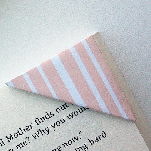 Coral Random Stripe Bookmark