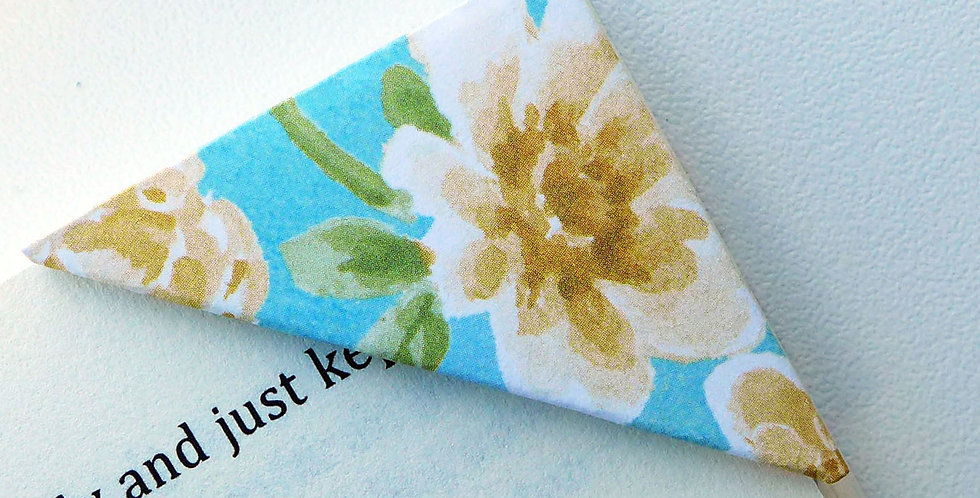 Yellow Rose In Vibrant Blue Bookmark