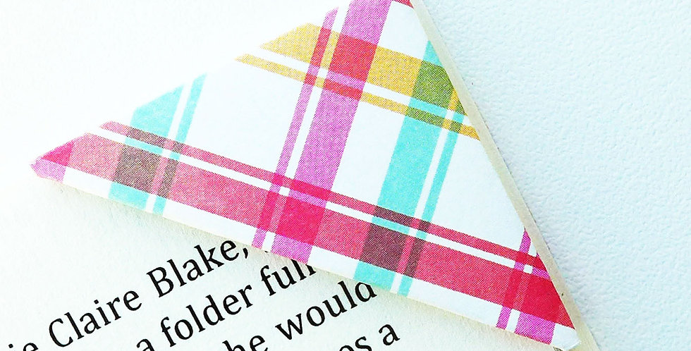 Patchy Multi Color Cross Stripe Bookmark