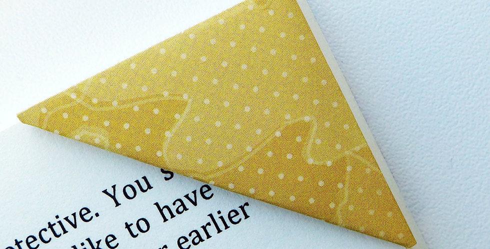 Yellow Fall Leaf Bookmark