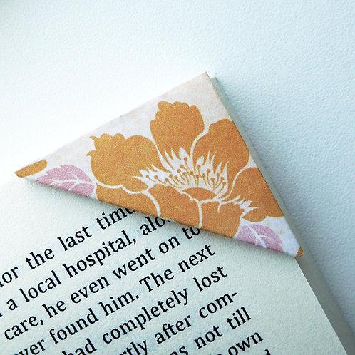 Orange Alstroemeria On Washed Cream Bookmark