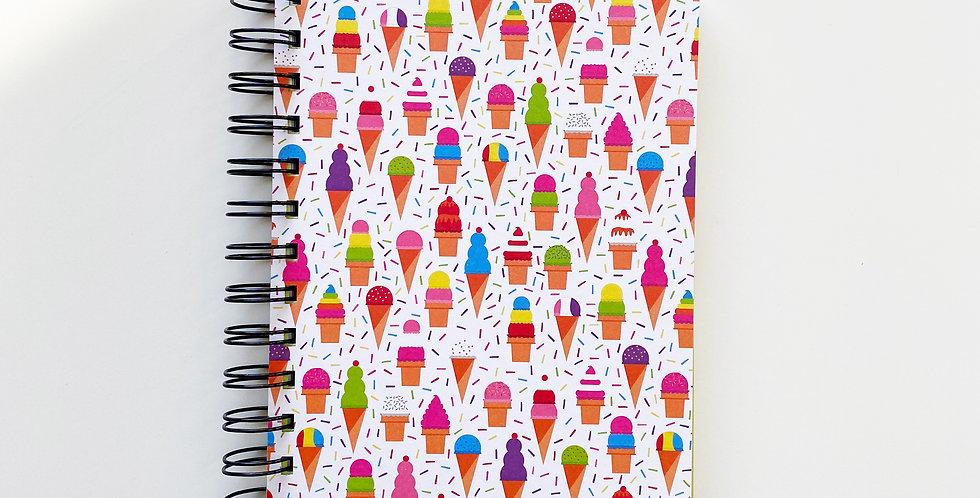 Ice cream In The Summer Notebook Journal