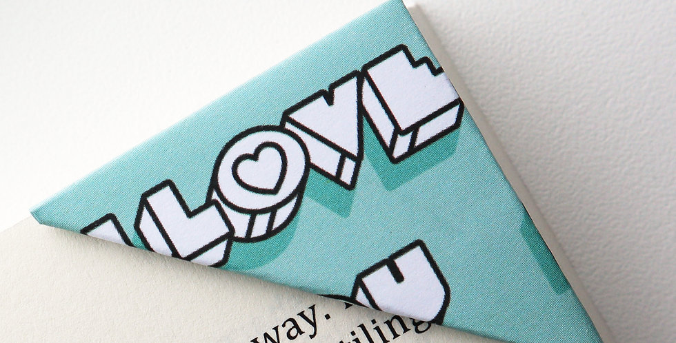 I Love You Bookmark