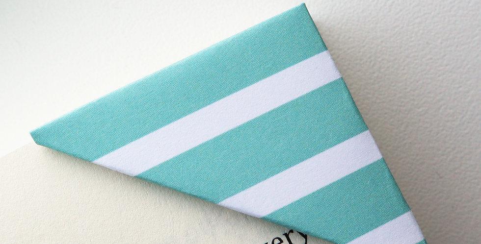 Minty Green Stripe Bookmark