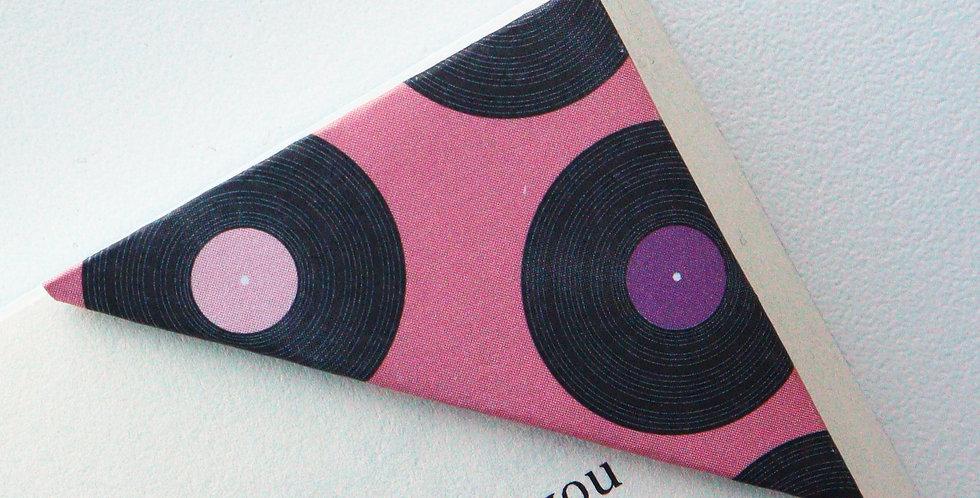 Music Record Bookmark