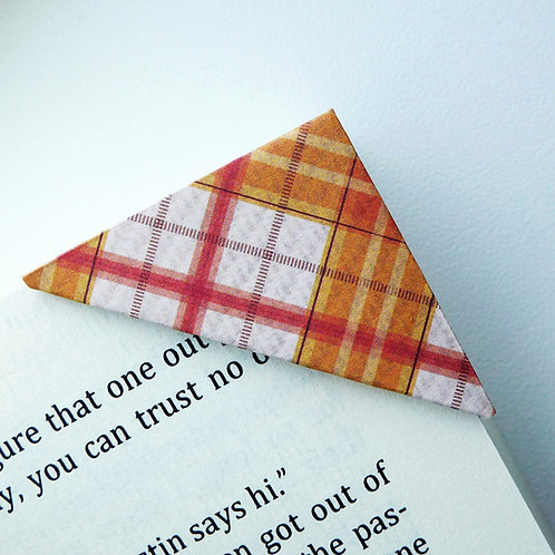 Patchy Orange Cross Stripe Bookmark