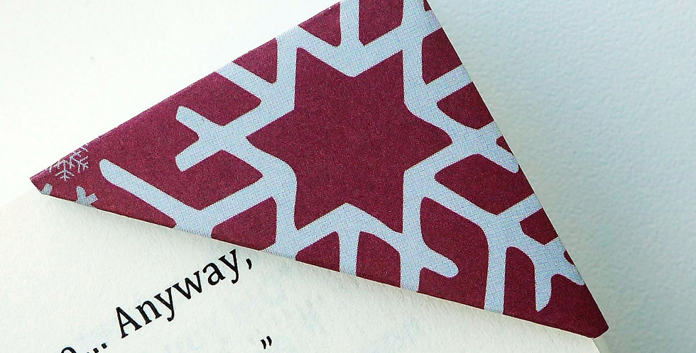 Christmas Snowflake in Subtle Red Bookmark
