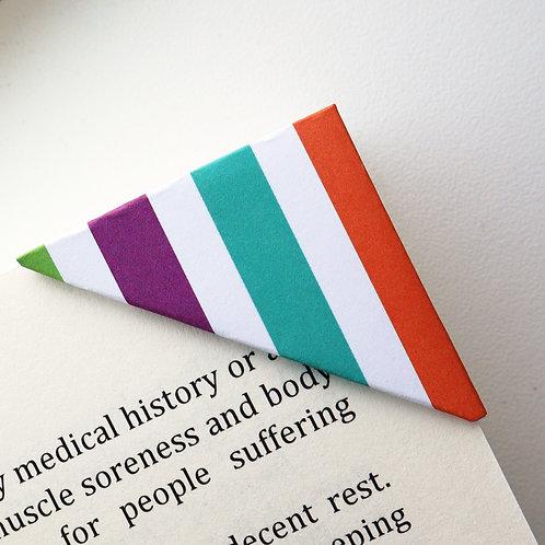 Colorful Thick Stripe Bookmark