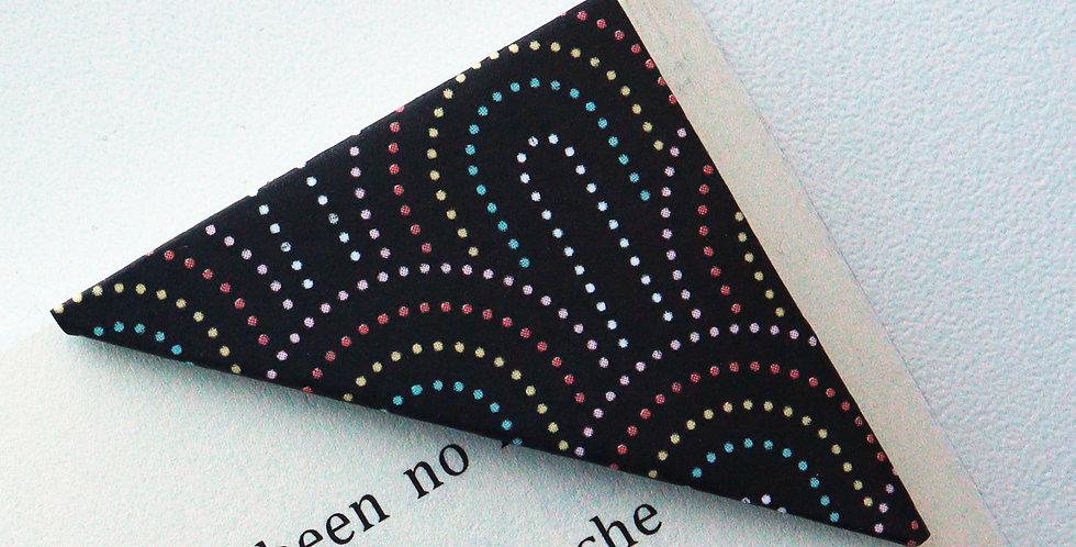 Colorful Seigaiha On Black Bookmark