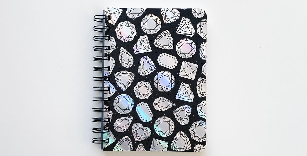 Diamond In The Rough Holographic Foil Notebook Journal