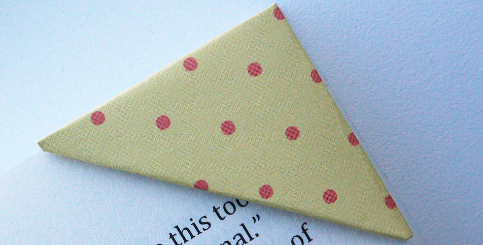 Tiny Red Dot On Yellow Bookmark