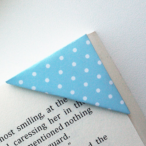Small White Dot On Blue Bookmark