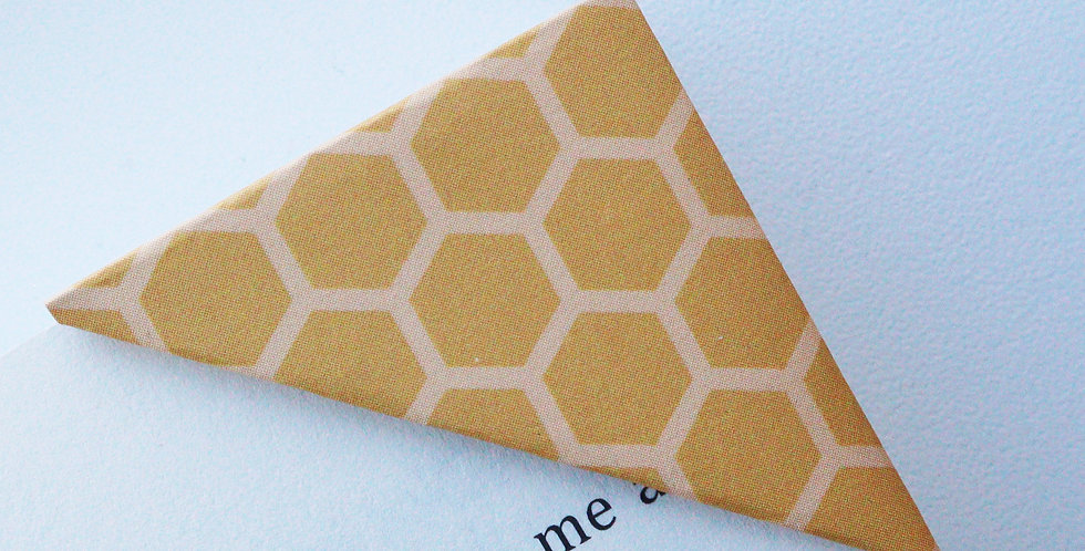 Honey Comb Bookmark (2 colors)