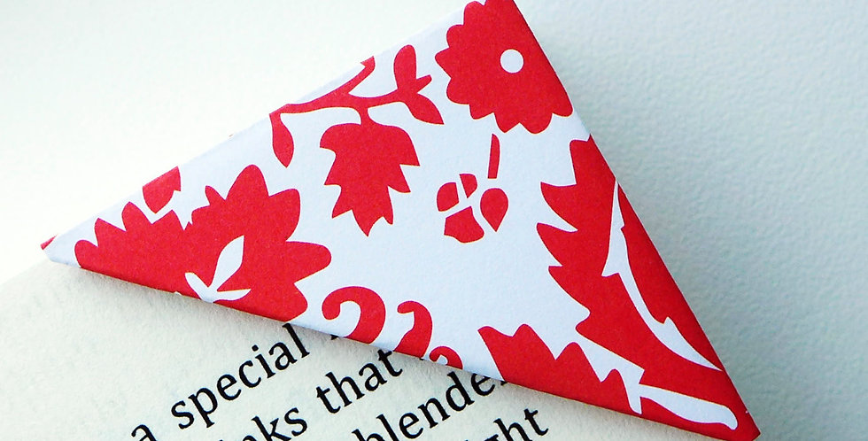 Red Wild Bloom On White Bookmark