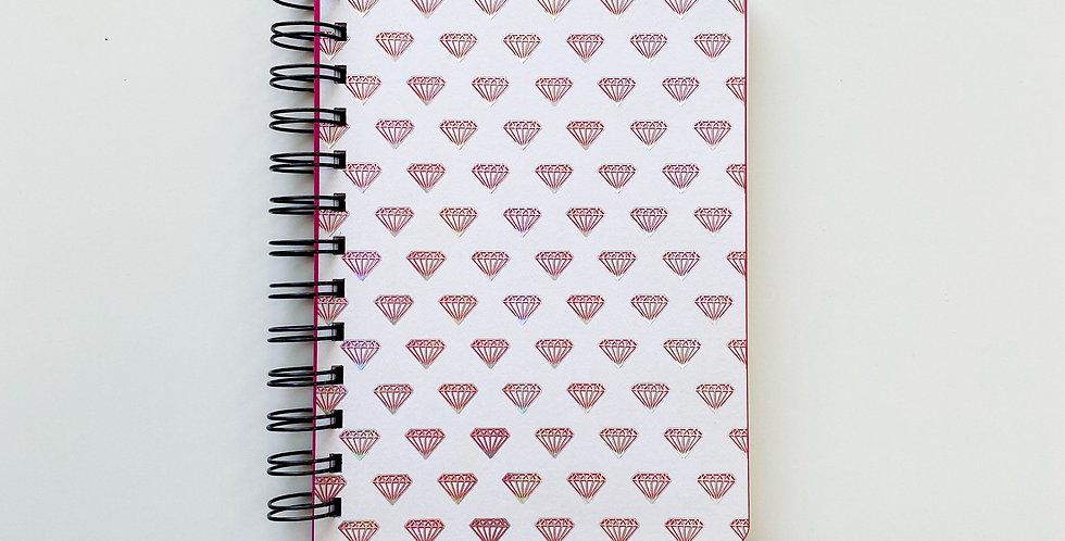 Shiny Diamond Holographic Foil Notebook Journal