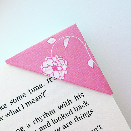 Lined Flower Arrangement Bookmark