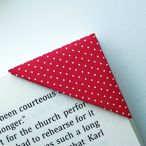 White Tiny Polka Dot Bookmark (2 colors)