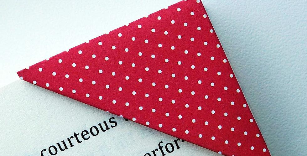 White Tiny Polka Dot Bookmark (2 colors)