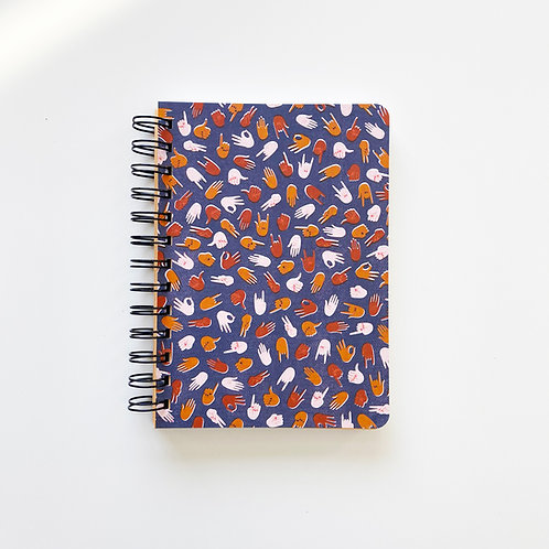 We Are United Hand Gestures Notebook Journal