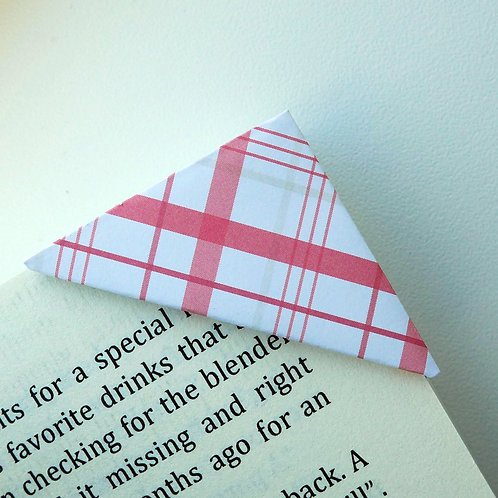 Patchy Pink Cross Stripe Bookmark