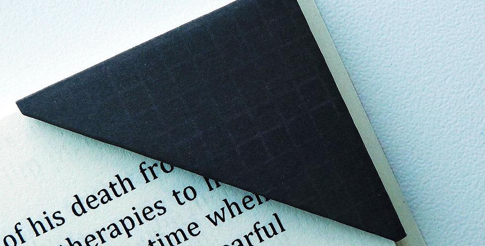 Simple Black Textile Bookmark