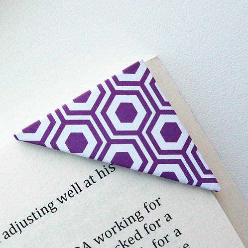 Geometric Turtle Shell Bookmark (2 colors)