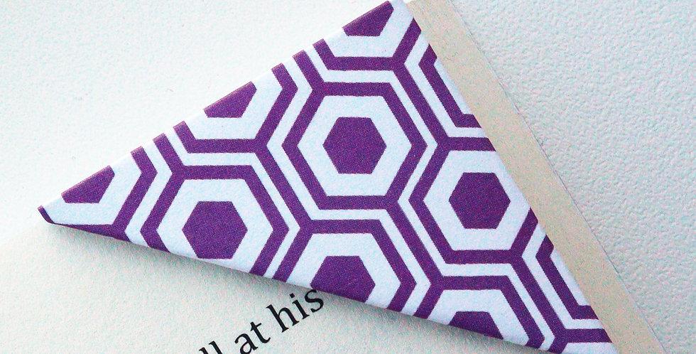 Geometric Turtle Shell Bookmark (2 colors)