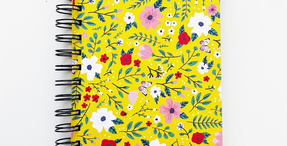 Summer Garden On Yellow Notebook Journal