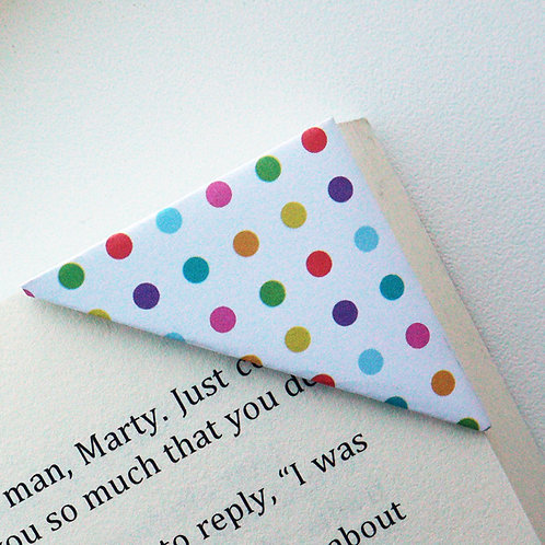 Small Polka Dot Colorful Bookmark