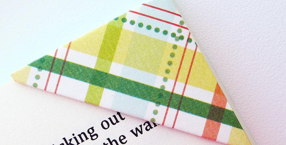 Patchy Textile Bookmark (3 colors)
