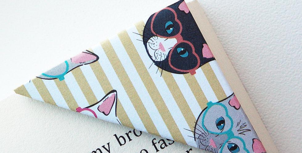 Kitty On Stripe Bookmark