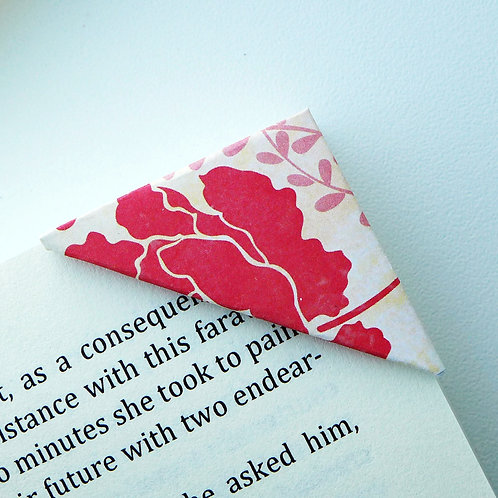Red Tulip On Watercolor Bookmark