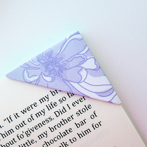 Purple Abstract Flower Bookmark