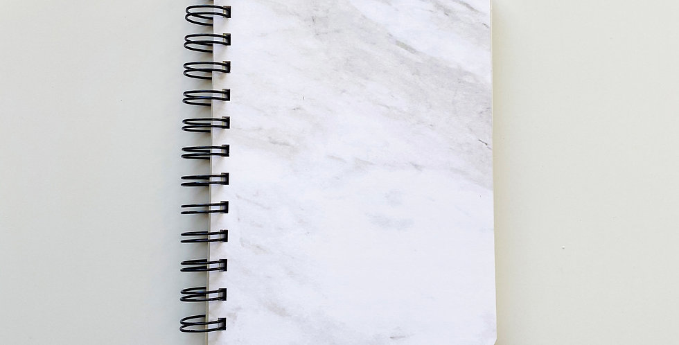 White Marble Notebook Journal