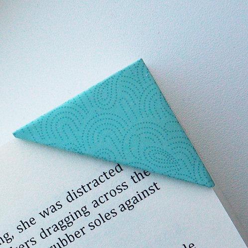 Green Seigaiha Bookmark