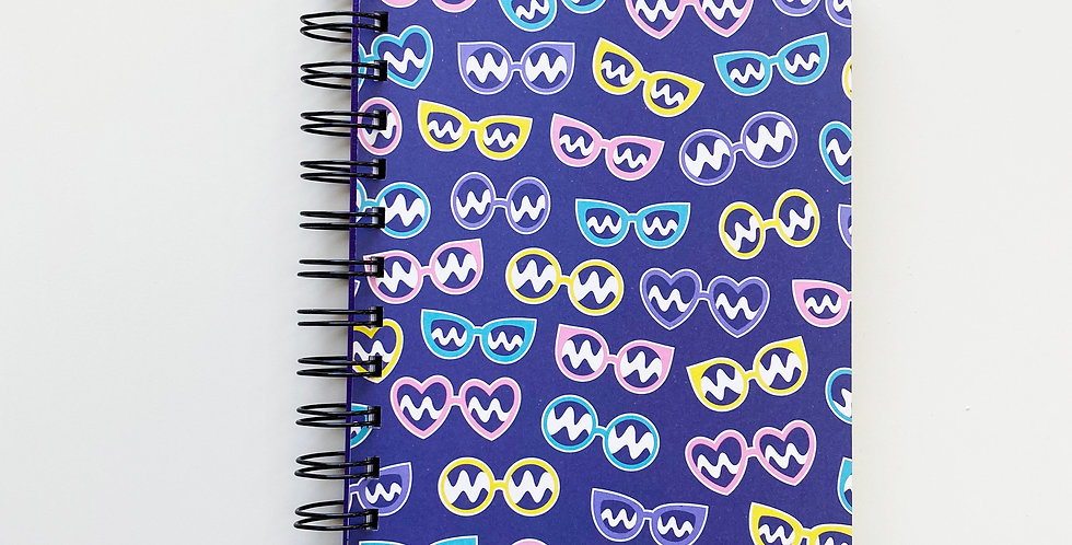 Fashion Glasses Notebook Journal