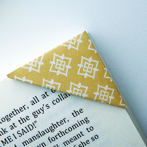 Far East Pattern In Yellow Bookmark