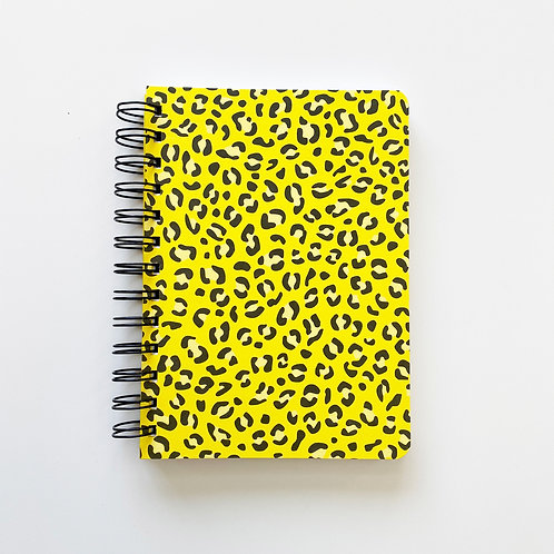 Animal Print On Yellow Notebook Journal