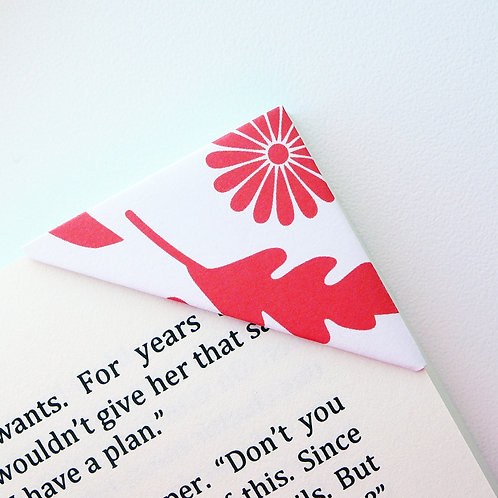 Simple Flower Pattern Bookmark (2 colors)