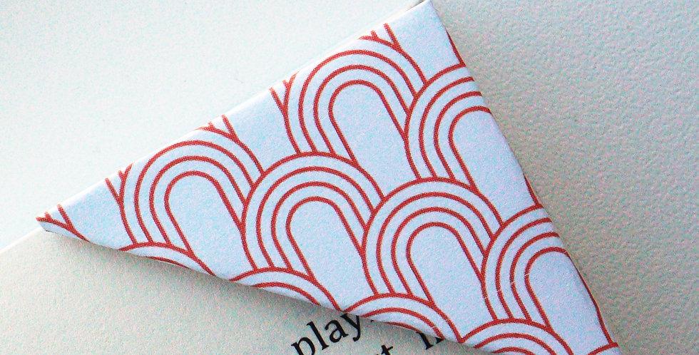 Red Seigaiha Bookmark